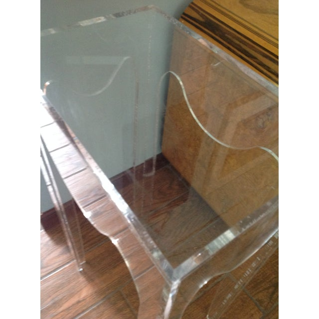 Vintage Acylic Plant Stand Table For Sale - Image 4 of 7