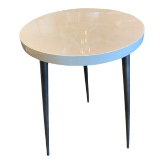 Contemporary Vellum Side Table For Sale