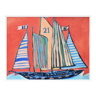 SB Norman's Cay by Lulu DK in White Framed Paper, Large Art Print For Sale