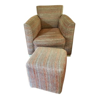 "Donghia Upholstered ""Noble"" Club Chair For Sale"