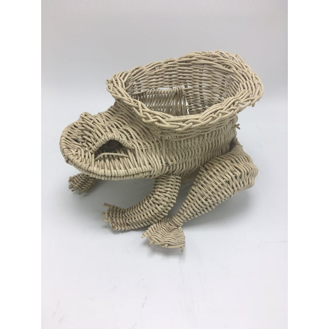 Vintage Wicker Frog Planter For Sale In Charleston - Image 6 of 7