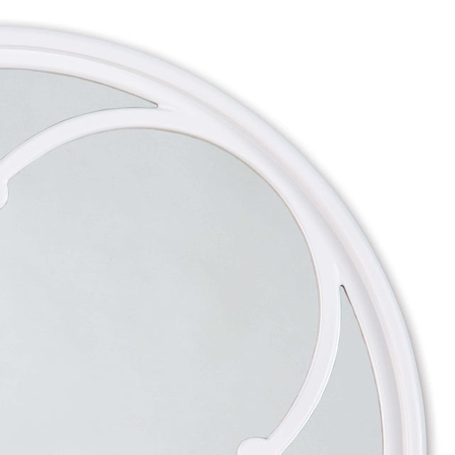 Lula Quatrefoil Mirror Small in White For Sale - Image 4 of 5