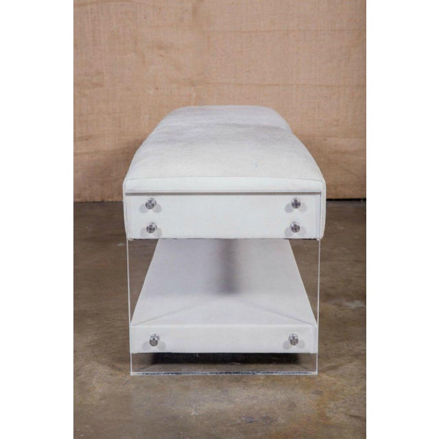 Modern Yves Lucite Benches For Sale - Image 9 of 10