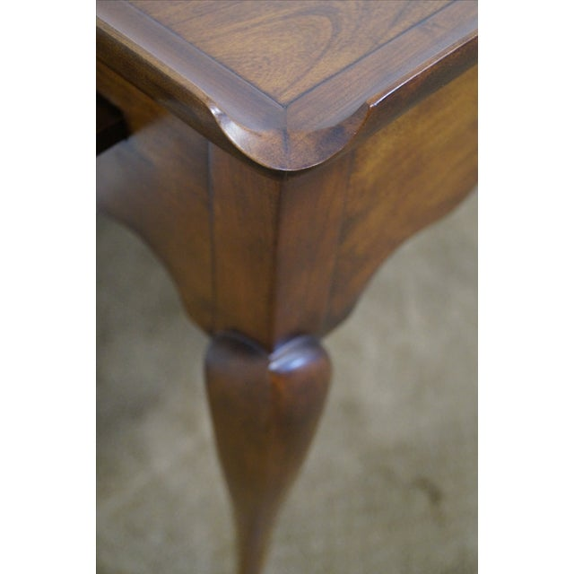 Statton Solid Cherry Queen Anne Style Tea Table - Image 7 of 10