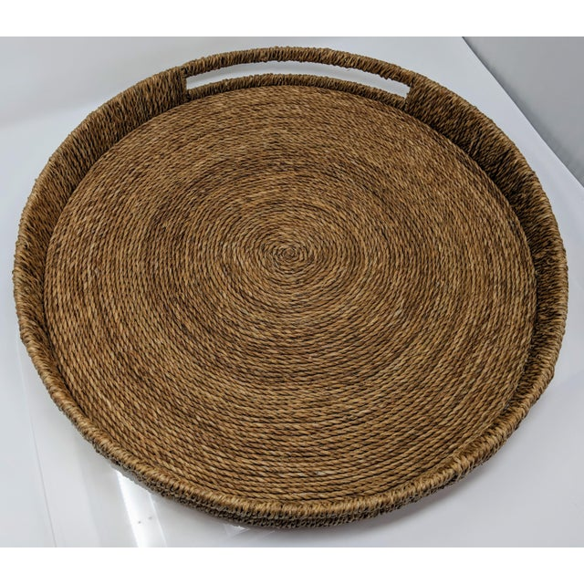 Palecek Style Round Ottoman Tray For Sale - Image 9 of 13