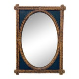 Image of Maitland Smith Rattan and Grasscloth Mirror For Sale