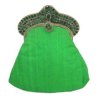 1960's Vintage Mughal Style Bejeweled Indian Clutch Handbag For Sale