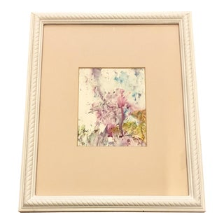 Nancy Smith Original Abstract Floral Painting For Sale