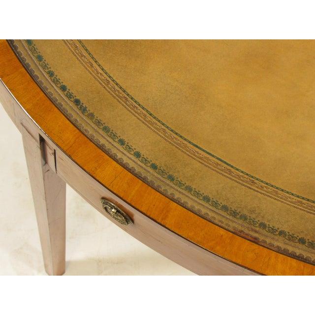 Animal Skin 19th Century English Georgian Inlaid Satinwood Writing Table For Sale - Image 7 of 8