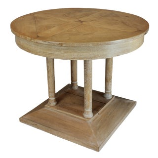 French Limed Oak Pillar Table