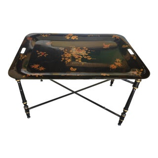 Italian ToleWare Coffee Table Tray Table For Sale