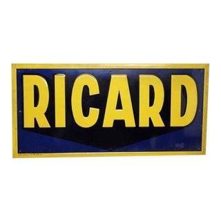 Pernod Ricard Metal Sign