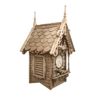 c.1905 English Folk Art Dove Cote with Clock For Sale