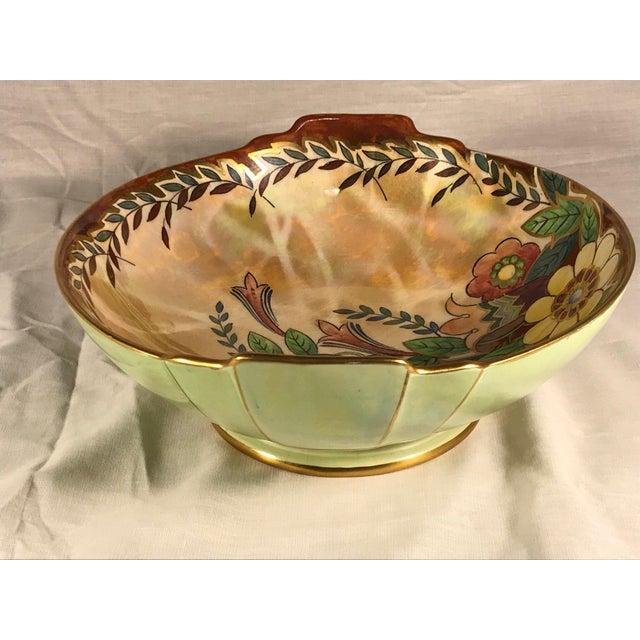 Victorian Vintage Royal Winton Grimwades Footed Trinket Dish For Sale - Image 3 of 11