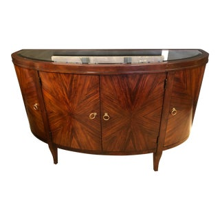 Transitional Sideboard With Antiqued Mirror Top by Hekman For Sale
