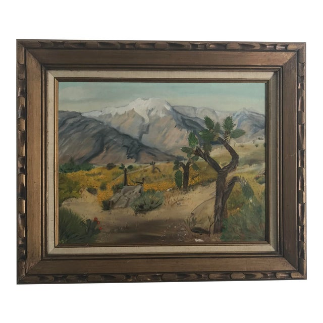 Vintage Plein Aire Signed Oil Painting on Canvas For Sale