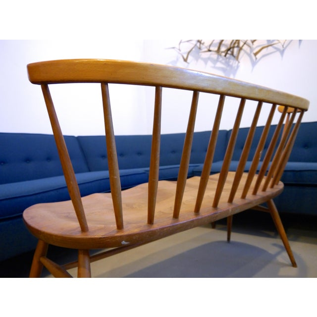 Tan 1950's Windsor Loveseat by Lucian Ercolani For Sale - Image 8 of 10