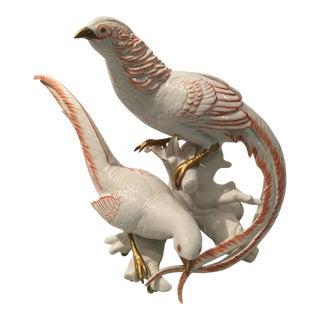 Porcelain Birds Sculpture
