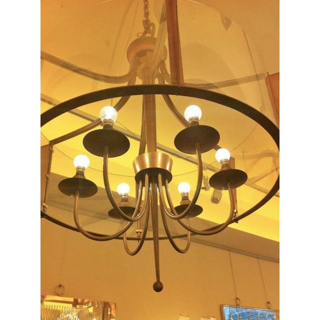 Art Deco Raymond Subes Rare, Superb Neoclassic 1940s Chandelier For Sale - Image 3 of 7