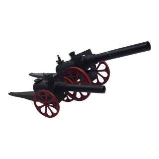 Pair of Metal, Functioning Toy Cannons For Sale