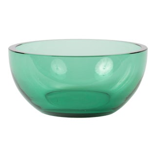 Art Glass Aquamarine Bowl by Karhula of Finland For Sale