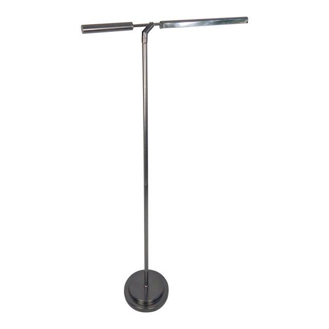 Brushed Chrome Fluorescent Floor Lamp For Sale
