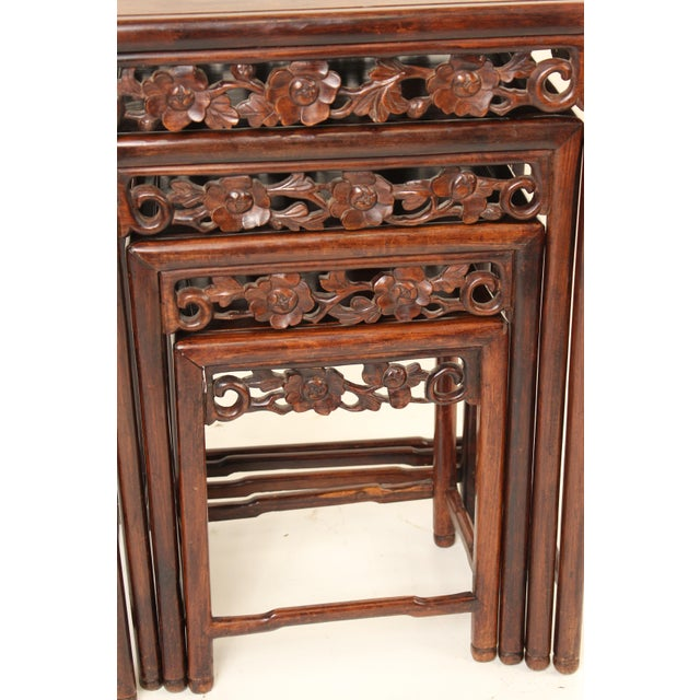 1930s Chinese Nesting Tables - Set of 3 For Sale In Los Angeles - Image 6 of 13