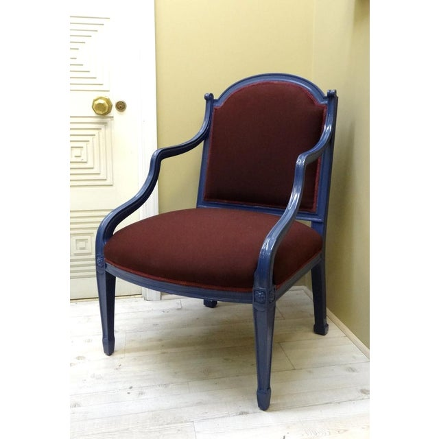 Hepplewhite Ribbon Armchair For Sale - Image 3 of 5