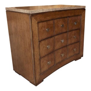 Drexel Heritage Stone Top Chest of Drawers or Nightstand For Sale