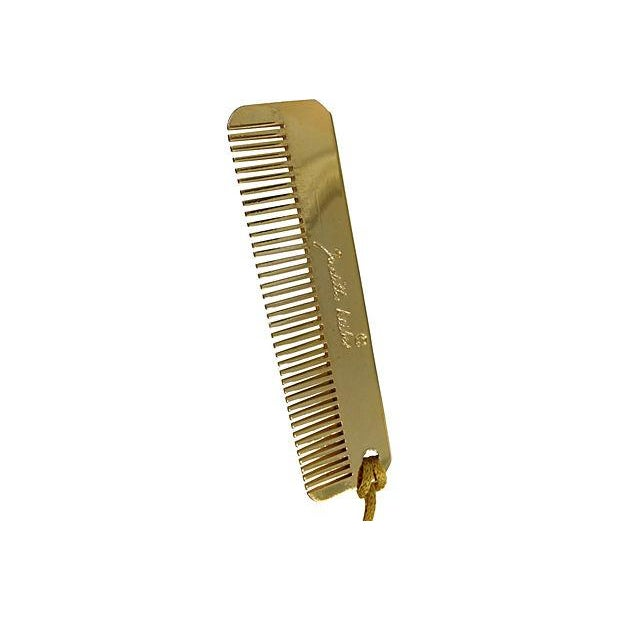 Judith Leiber Judith Leiber Brass Comb with Tassle For Sale - Image 4 of 5