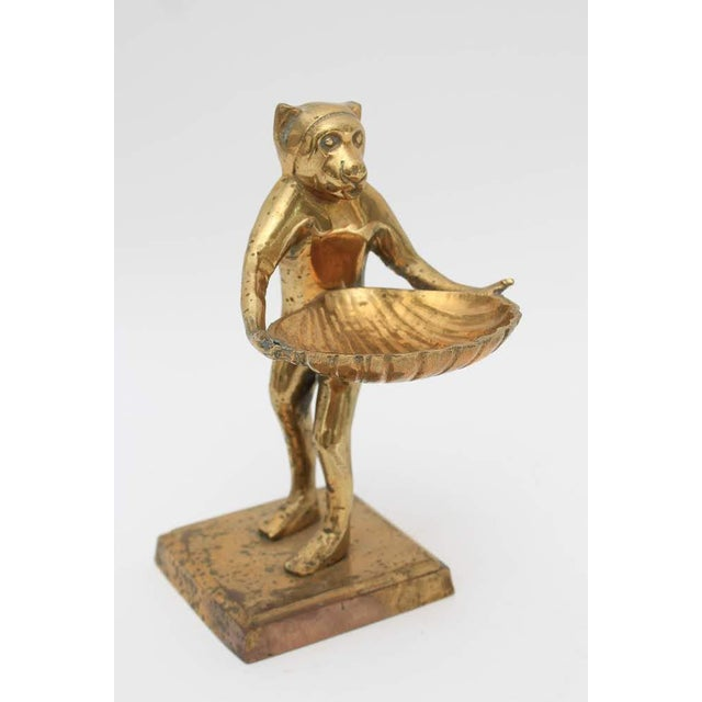 Mid-Century Brass Monkey Figurine Card Holder For Sale - Image 10 of 10
