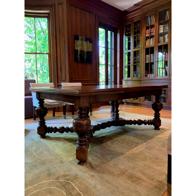 This antique draw leaf dining table features exquisite details and beatifully crafted carvings. Seats six comfortably...