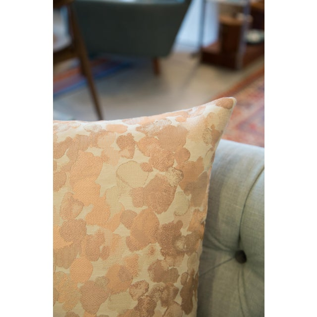 2010s Iridescent Rose Gold Pillow For Sale - Image 5 of 8