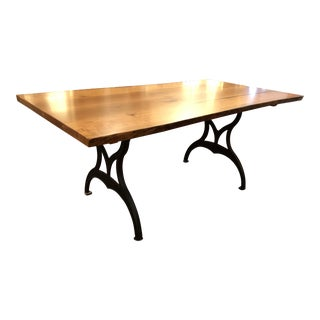 Handmade Live Edge Cherry Top Dining Table For Sale