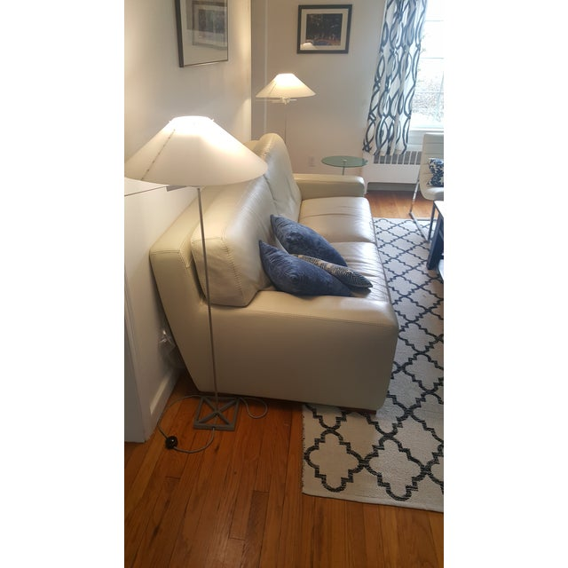 Mid-Century Modern Roche Bobois Leather 3-Seat Sofa For Sale - Image 3 of 7