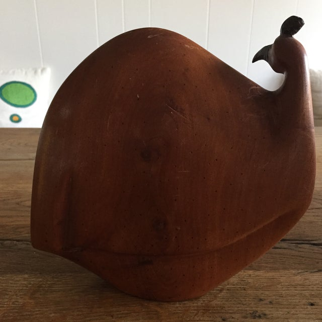Vintage Mid-Century Wood Rooster Sculpture - Image 6 of 10
