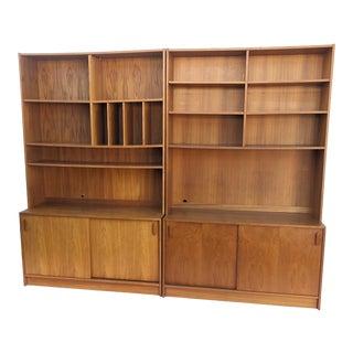 Late 20th Century Vintage Teak Bookshelves - a Pair For Sale