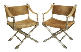 Image of Brass Side Chairs