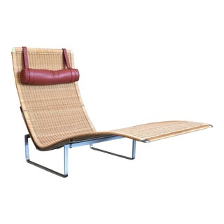 Poul Kjærholm for Fritz Hansen Pk 24 Wicker Seat Chaise Lounge