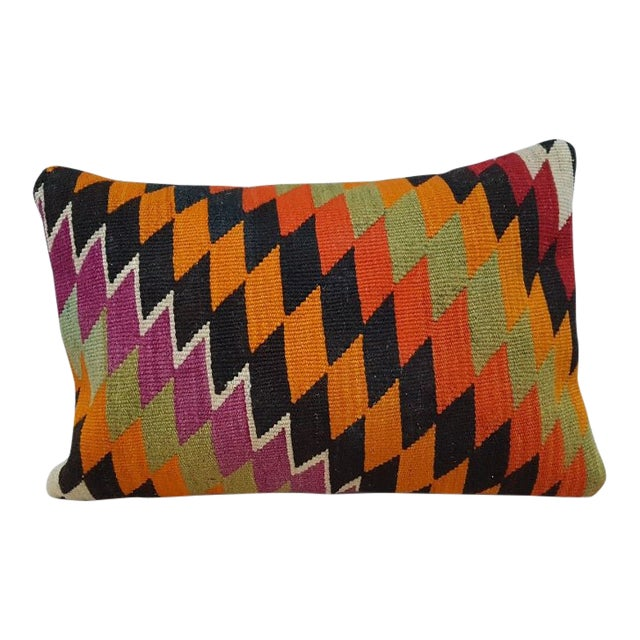Vintage Kilim Lumbar Pillow For Sale