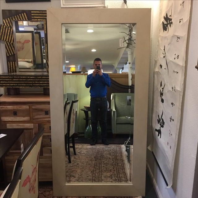 Large Ivory Shagreen Floor Mirror - Image 2 of 7