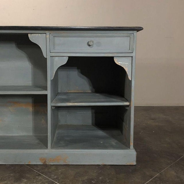 Mid-Century Modern 19th Century Painted Store Counter For Sale - Image 3 of 9