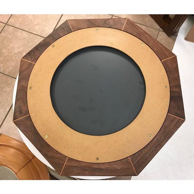 Custom Solid Walnut Octagonal Mirror For Sale - Image 4 of 5