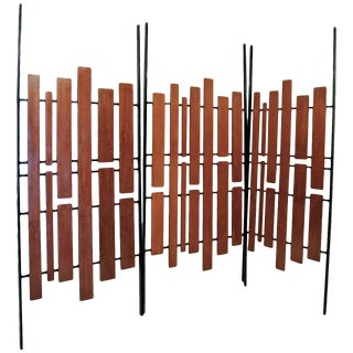 1960s Italian Wood and Iron Screens - Set of 3