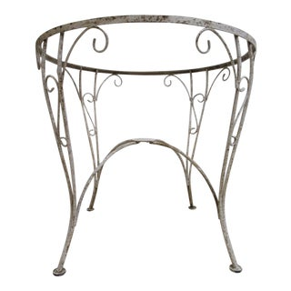 Antique Woodard Wrought Iron Dining Table