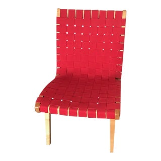 Risom Red Lounge Chair For Sale