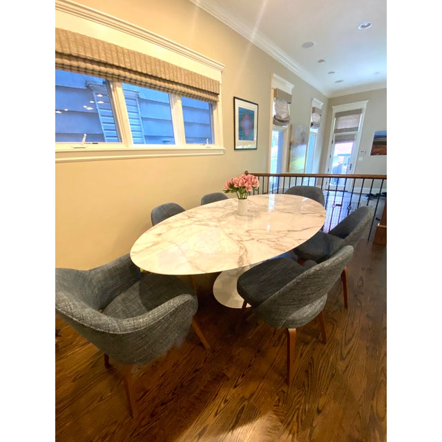 2010s Knoll Saarinen Oval Tulip Dining Table For Sale - Image 5 of 6