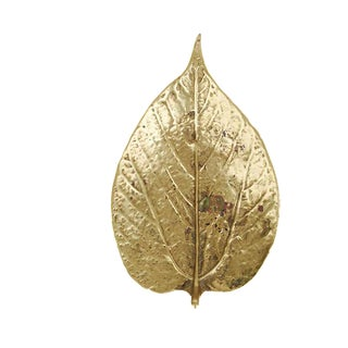 Virgina Metalcrafters Brass Mulberry Leaf For Sale