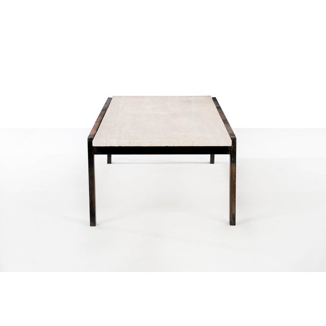 Mid-Century Modern Van Keppel-Green Travertine Coffee Table For Sale - Image 3 of 8