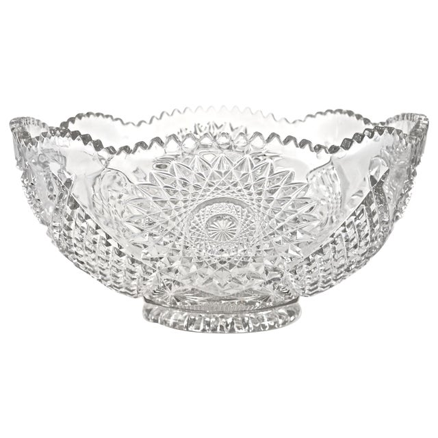 "14"" Eapg Hobstar Bowl - Image 1 of 3"